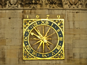 Great St Mary's clock dial