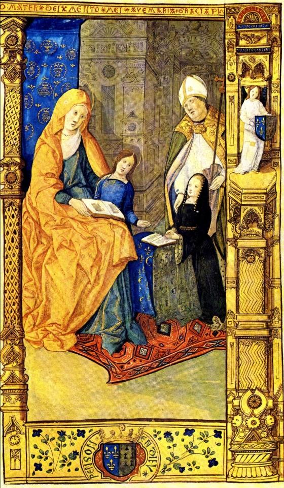 Text von Geoffrey Tory geschrieben; von Guido Mazzoni malereien. (Fibel der Claude von Frankreich) [Public domain], via Wikimedia Commons