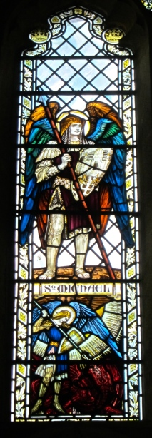 St Michael in the window of GSM's St Andrew's Chapel
