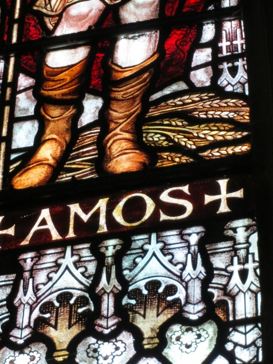 The feet of Amos from GSM's clerestory windows