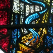 Clerestory stained glass.