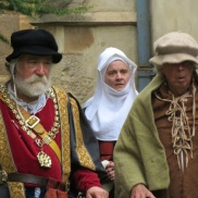 Lady Margaret, her loyal retainer and the hapless peasant.