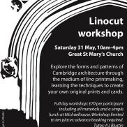Linocut workshop poster.