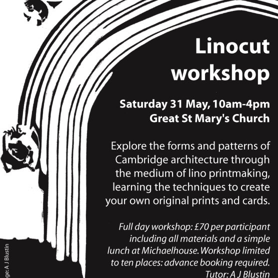 Linocut workshop poster.