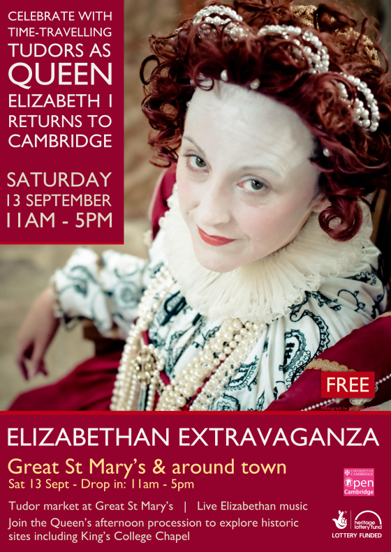 Pageant poster. Image of Rachel Duffield as Queen Elizabeth I by Antonella Muscat. http://antonellamuscat.viewbook.com/