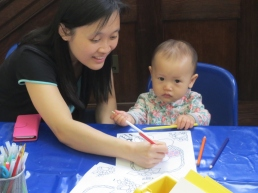 One of our littlest crafters!