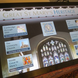 Volunteers researched Cambridge history for the new interactive touchscreens.