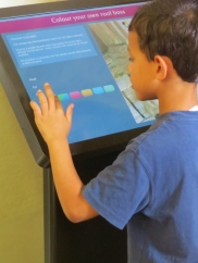 Interactive displays. Photo courtesy of Kate Bystrova.