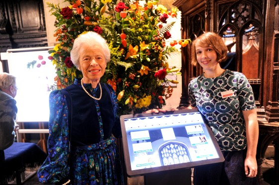 01/10/15 Church heritage centre opens 01/10/15  Gt Saint Marys Cambridge  Church Heritage Centre Opening  Churchwarden Margaret Johnston Left with Heritage Education Officer Rosie Sharkey    Picture:Richard Patterson